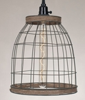 Metal Basket Pendant Lamp Light with Jute