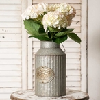 Metal Flower and Plant Can Planter with Handle