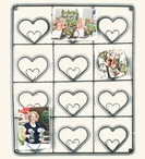 Metal Heart Wall Photo Holder Picture Frame