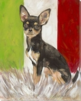 Mexican Chihuahua Dog Wrapped Canvas Giclee Print Wall Art