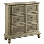 Michelle Textured 6 Drawer MDF and Solid Birch Wood Chest