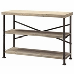 Midtown Wood and Metal Console Table