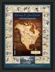 Migration Map Diving and Sea Ducks Framed Poster Art Print Wall Art