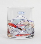 Milano Romanian Crystal Double Old Fashion Glasses, Set of 4