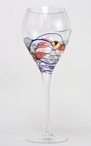 Milano Romanian Crystal Wine Goblet Glasses, Set of 4