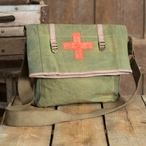 Military Fold Over Canvas Tote Bag
