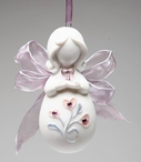 Mini Angel with Heart Christmas Tree Ornaments, Set of 4