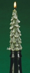 Mini Evergreen Tree Drip Taper Candles for Wine Bottles, Set of 8