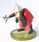 Miniature Bird with Letter Statue by Hieronymus Bosch