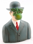 Miniature Son of Man with Apple Statue by Rene Magritte