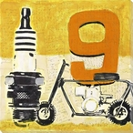 Minibike Wrapped Canvas Giclee Print Wall Art