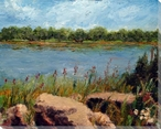 Missouri River Wrapped Canvas Giclee Print Wall Art