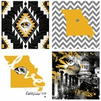 Missouri Tigers Spirit Beverage Coasters, Set of 8
