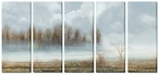 Misty Field Quintet Wrapped Canvas Giclee Print Wall Art, Set of 5