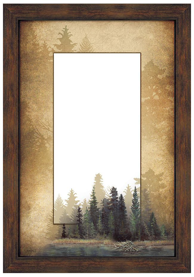 Misty Forest Scenery Framed Wall Mirror - Wall Decor - Wild Wings