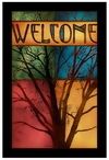 Misty Morning Tree Stained Glass Welcome Wall Art