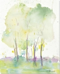 Misty Trees Wrapped Canvas Giclee Print Wall Art
