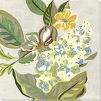 Modern Chintz Flowers IV Wrapped Canvas Giclee Print Wall Art