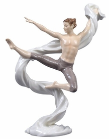 Modern Dance Male Porcelain Sculpture