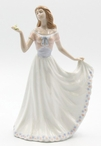 Mom Holding Her Dress and a Flower Porcelain Sculpture by Nadal
