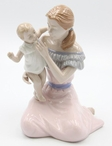 Mom Playing with Her Baby Porcelain Sculpture by Nadal