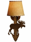 Moose Arrow Metal Wall Sconce with Shade