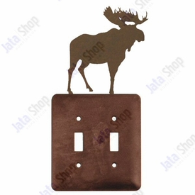 Moose Double Toggle Metal Switch Plate Cover
