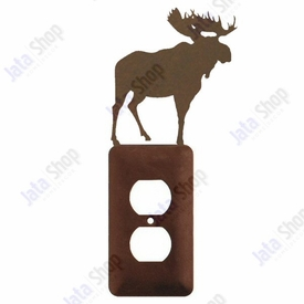 Moose Single Metal Outlet Cover