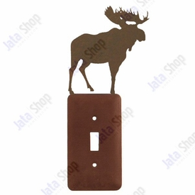 Moose Single Toggle Metal Switch Plate Cover