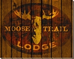 Moose Trail Lodge Wrapped Canvas Giclee Print Wall Art