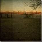 Morning Field Farm Wrapped Canvas Giclee Print Wall Art