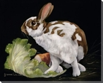 Morning Meal Bunny Rabbit Wrapped Canvas Giclee Print Wall Art