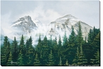 Morning Mist Mountains Wrapped Canvas Giclee Print Wall Art