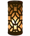 Mosaic Metal Cylinder Pillar Table Lamp