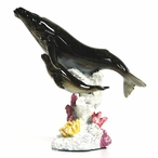 Mother and Baby Whale Swimming Together Statue