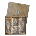 Motorcycle Pilsner Glasses & Beer Mugs Box Set with Pewter Accents
