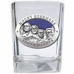 Mount Rushmore Blue Pewter Accent Shot Glasses, Set of 4
