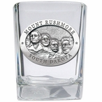 Mount Rushmore Pewter Accent Shot Glasses, Set of 4