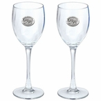 Mount Rushmore Pewter Accent Wine Glass Goblets, Set of 2