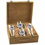 Mount Rushmore South Dakota Blue Pilsner Glasses & Beer Mugs Box Set