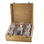 Mount Rushmore South Dakota Decanter & DOF Glasses Box Set with Pewter