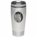 Mountain Goat Stainless Steel Travel Mug with Pewter Accent