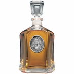 Mountain Lion Capitol Glass Decanter with Pewter Accents