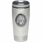 Mountain Lion Stainless Steel Travel Mug with Pewter Accent