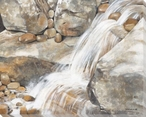 Mountain Springs Wrapped Canvas Giclee Print Wall Art