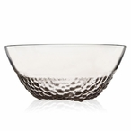 Mouth Blown Grey Crystal Bowl by Mats Jonasson