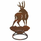 Mule Deer Metal Bath Towel Ring