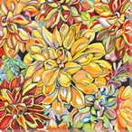 Mum Flowers Wrapped Canvas Giclee Print Wall Art