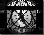 Museum Clock Wrapped Canvas Giclee Print Wall Art