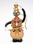 Musical Muse Violin Christmas Tree Ornament by Ed Sussman, Set of 4